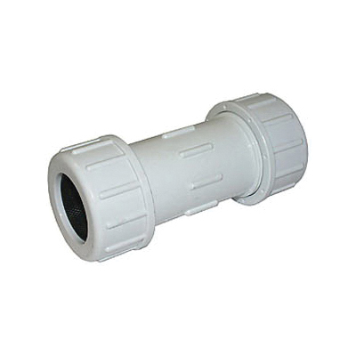 LEGEND 204-103 Lead Free Long Pattern Pipe Coupling, 1/2 in, Compression, SCH 40/STD, SCH 80/XH, PVC, Domestic