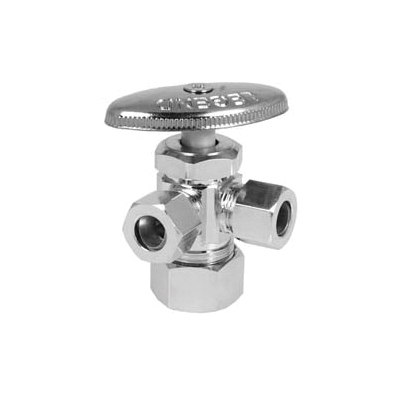 LEGEND T-581NL (CR-19) Lead-Free Multi-Turn Angle Pattern Supply Stop Valve, 5/8 x 3/8 in Tube, Brass