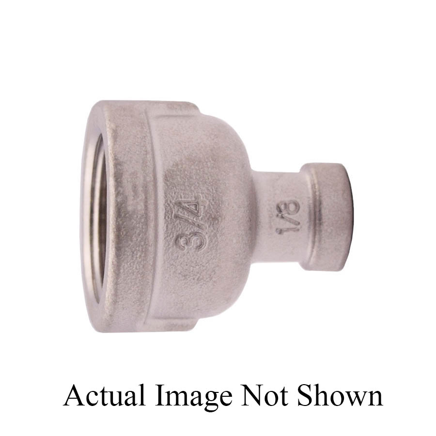 LEGEND 404-365 Reducing Coupling, 1/2 x 3/8 in, Threaded, 304 Stainless Steel