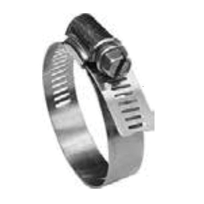 Merrill M677 No-Lead Hose Clamp, 3-9/16 to 4-1/2 in Clamp, Stainless Steel Band