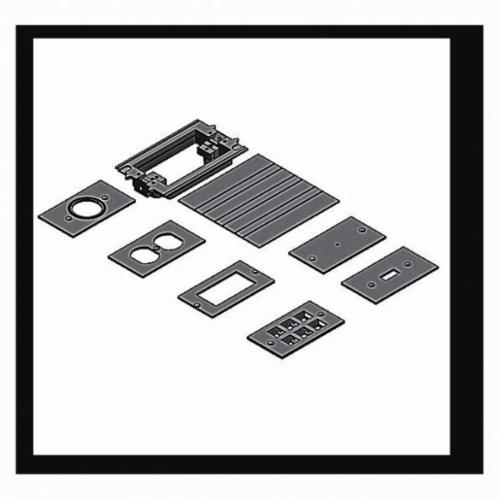Carlon E976AK2 Floor Box Adapter Kit, 9 in L x 7-1/4 in W x 7-1/4 in D, PVC