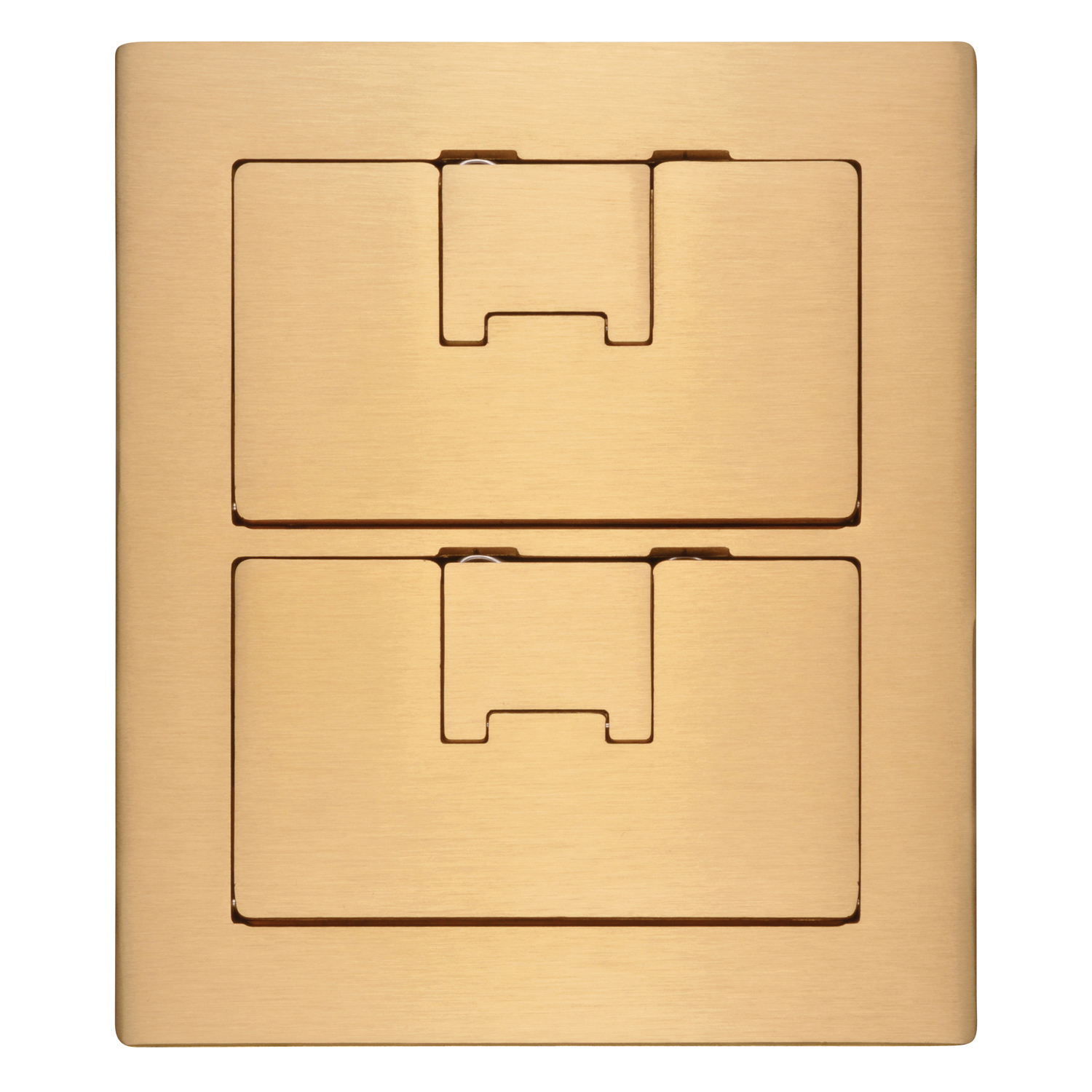 Carlon E9762BR Floor Box Cover, 8-1/4 in L x 7.13 in W, Brass