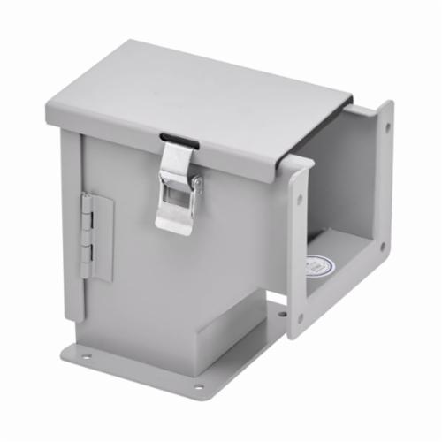 B-Line 16166-1 Medium Wall Mount Enclosure Without Knockout, 16 in L x 16 in W x 6.62 in D, NEMA 1/IP30,Steel