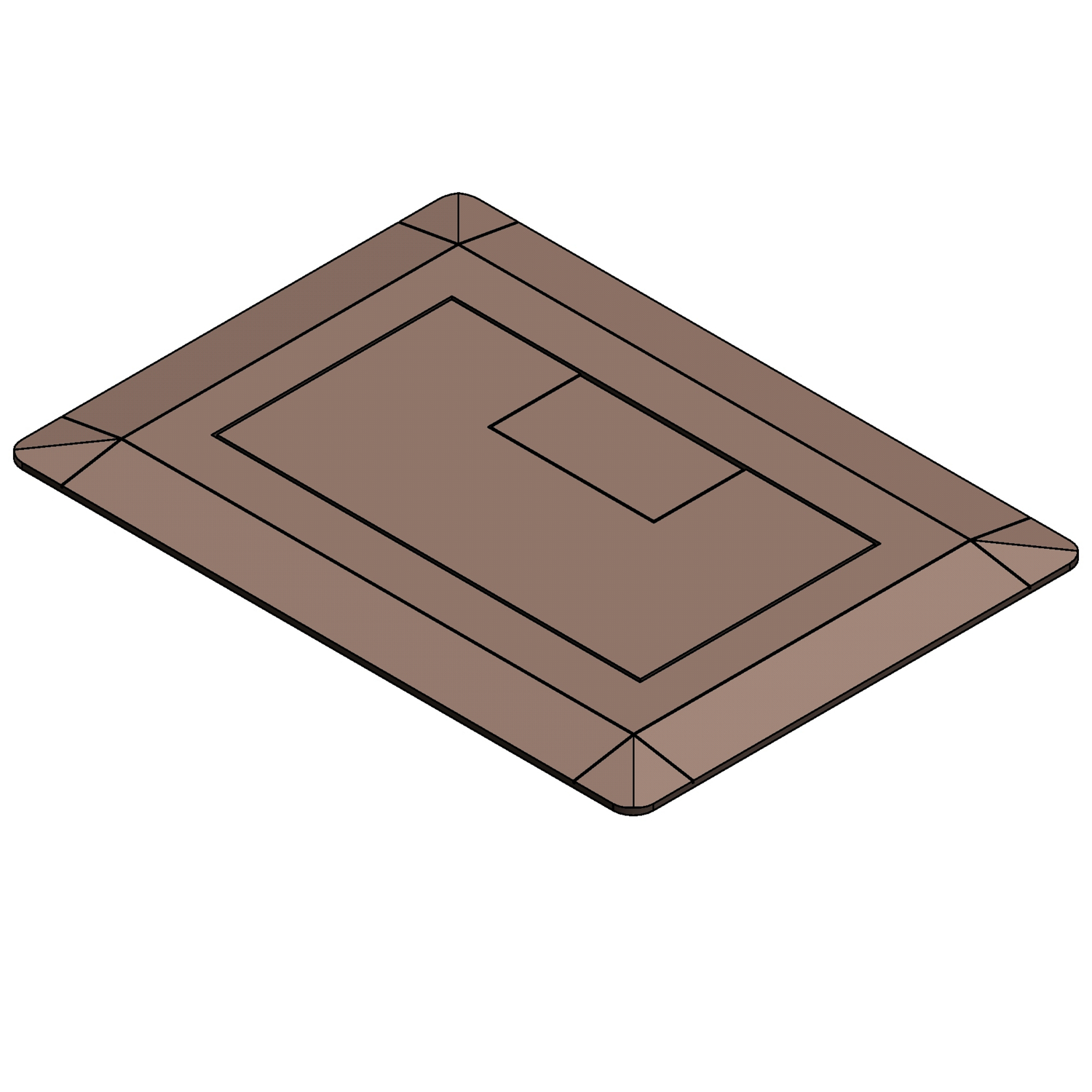 Carlon E9761C Floor Box Cover, 5 in L x 7.13 in W, Thermoplastic