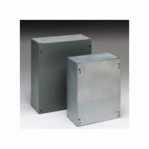 B-Line 242412 SC NK Junction Box Without Knockouts, 24 in L x 24 in W x 12 in D, Screw Cover, NEMA 1, Steel