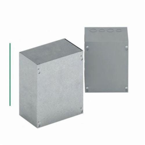 B-Line 121212 SC NK Electrical Enclosure With Knockout, 12 in L x 12 in W x 12 in D, NEMA 1, Steel