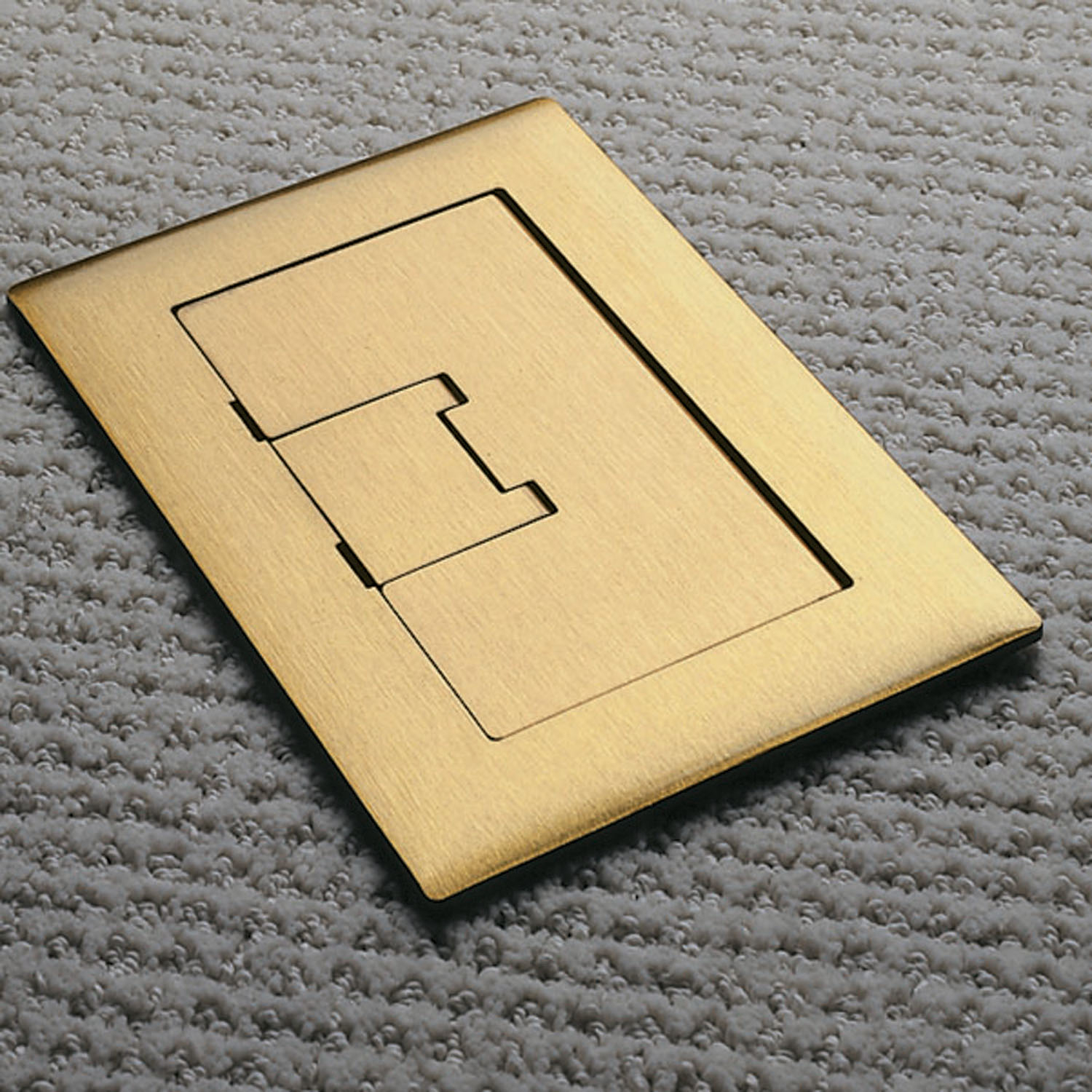 Carlon E9761BR Floor Box Cover, 5 in L x 7.13 in W, Brass