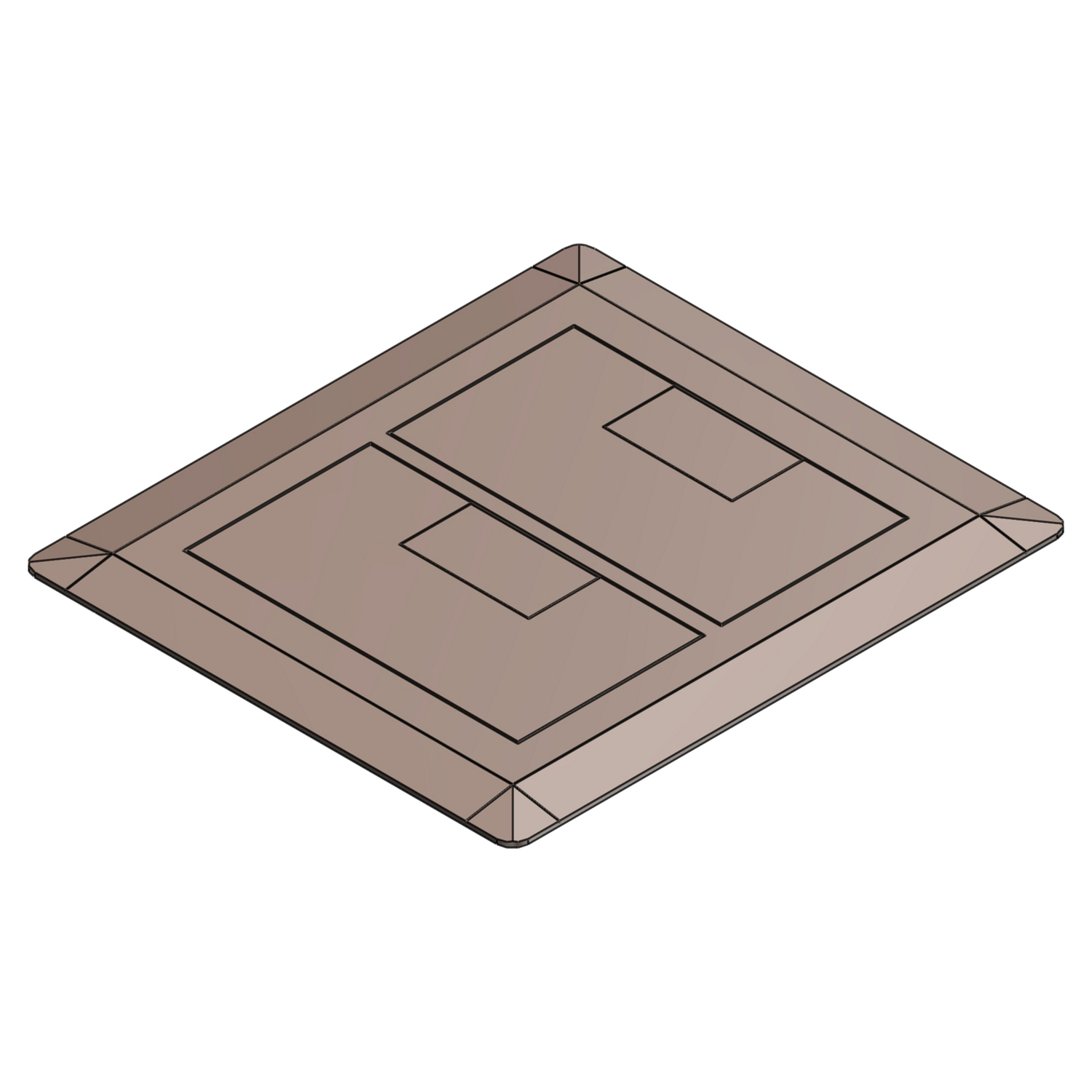 Carlon E9762C Floor Box Cover, 8-1/4 in L x 7.13 in W, Thermoplastic