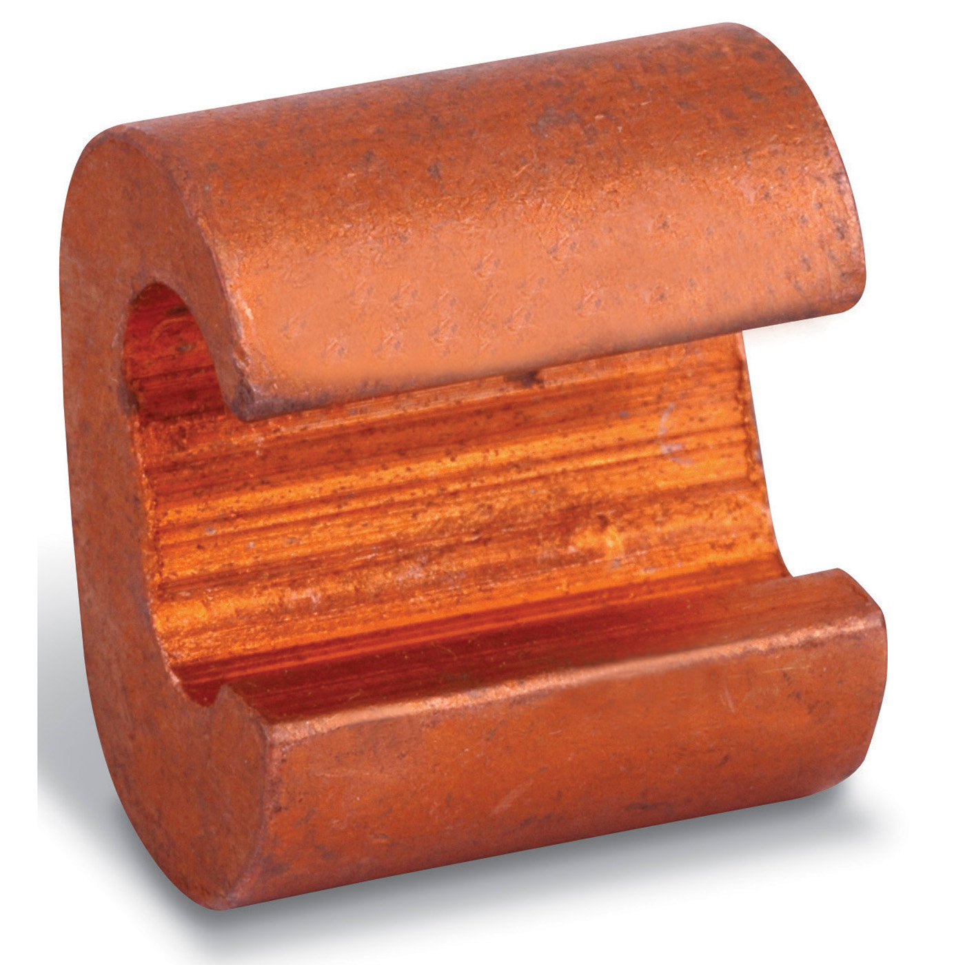 Blackburn E-Z-Ground C-Tap Compression Connector, C Shape, 2 AWG to 2 AWG Solid/Stranded Main/Run Size, Copper