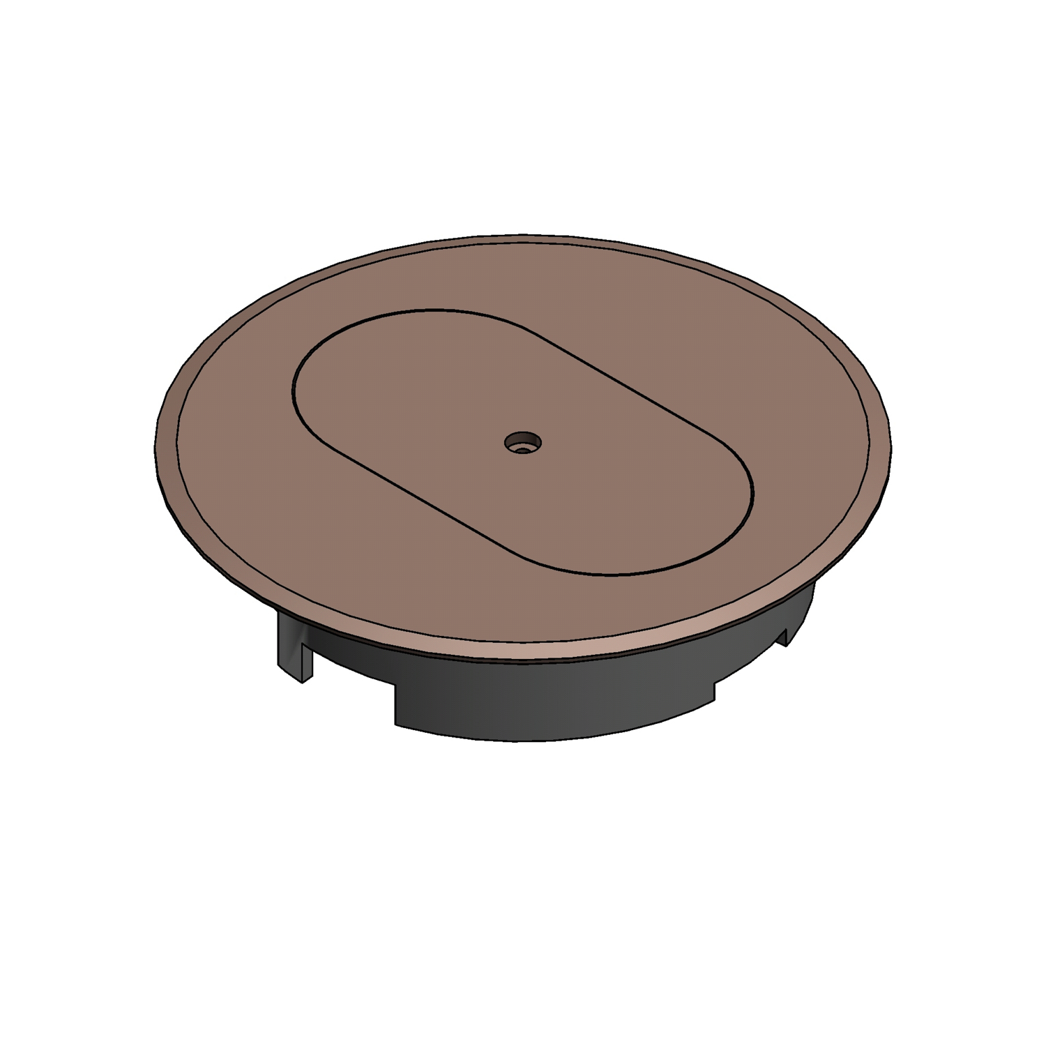 Carlon E97DSC Floor Box Cover, 5.69 in Dia, Thermoplastic