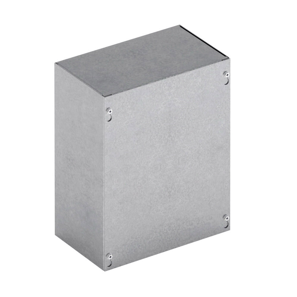 B-Line 484812 SC NK Junction Box Without Knockout, 48 in W x 12 in D, Screw Cover, NEMA 1, Steel