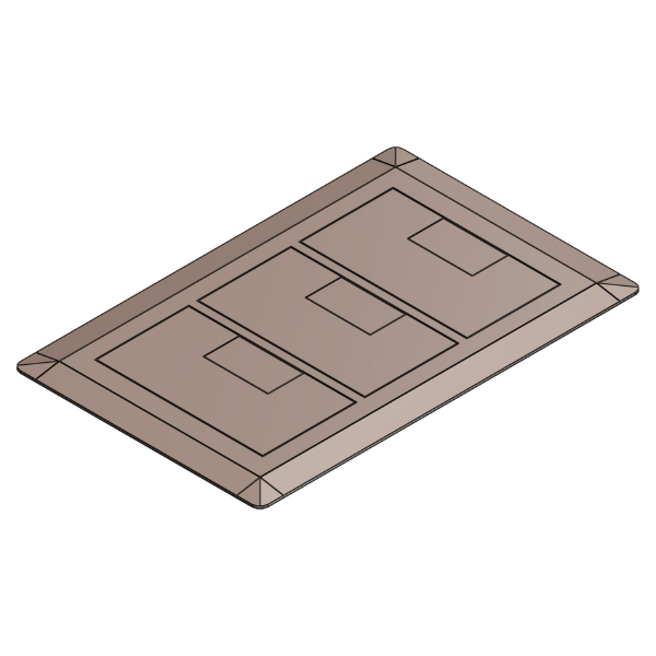 Carlon E9763C Floor Box Cover, 11-1/2 in L x 7.13 in W, Thermoplastic