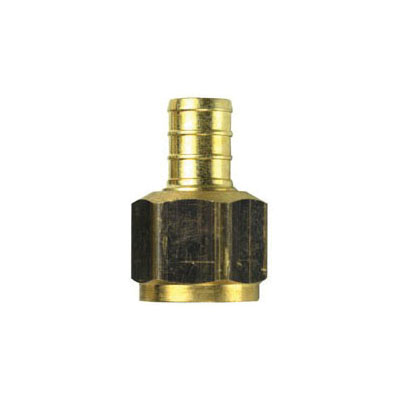 Tomahawk 647XG2 1-Piece Straight Adapter, 1/2 in, F1807 Crimp x FNPT, Brass, Domestic
