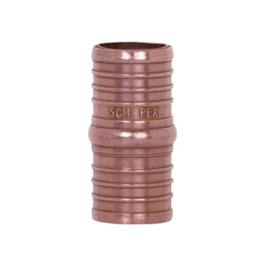 Tomahawk 645X4 1-Piece Hose Coupling, 1 in, F1807 PowerPEX Crimp, Copper, Domestic