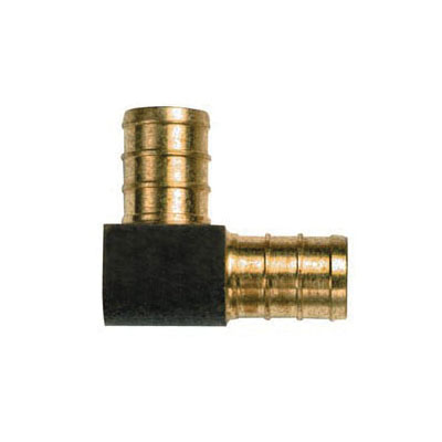 Tomahawk 642XG43 Directional Elbow, 1 x 3/4 in, F1807 Crimp, Brass, Domestic