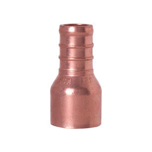 Tomahawk 644X4 1-Piece Straight Adapter, 1 in, F1807 PowerPEX Crimp x Female C, Copper, Domestic