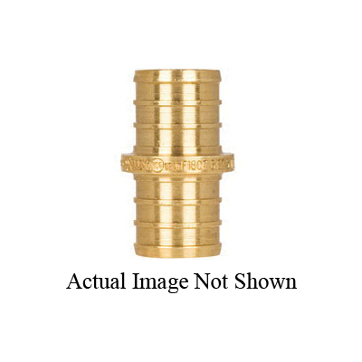Tomahawk 645XG1 1-Piece Coupling, 3/8 in, F1807 PowerPEX Crimp, Brass, Domestic