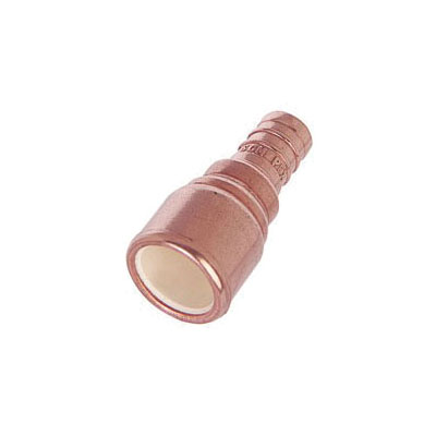 Tomahawk MetalHead 645XC3 Straight Adapter Coupling, 3/4 in, F1807 PowerPEX Crimp x CPVC, Copper, Domestic