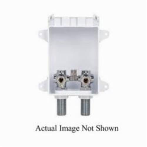 Tomahawk OxBox 696 Lavatory Outlet Box, 1/2 in PEX F1807 Crimp Inlet, 3/8 in Compression Outlet, ABS, Domestic