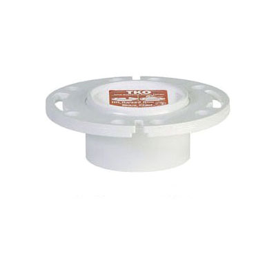 Tomahawk TKO 883 Closet Flange, 3 x 4 in, Hub, PVC, Domestic