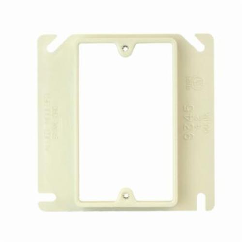 Allied Molded 9345 1-Gang Plaster Ring, 4 in L x 4 in W x 0.63 in D, PVC, 4 in Square