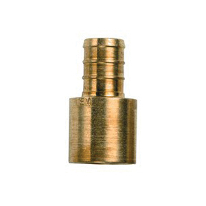 Tomahawk 644XG3 1-Piece Straight Adapter, 3/4 in, F1807 Crimp x Female C, Brass, Domestic