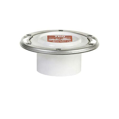 Tomahawk TKO 884 Closet Flange, 3 x 4 in, Hub, PVC, Domestic