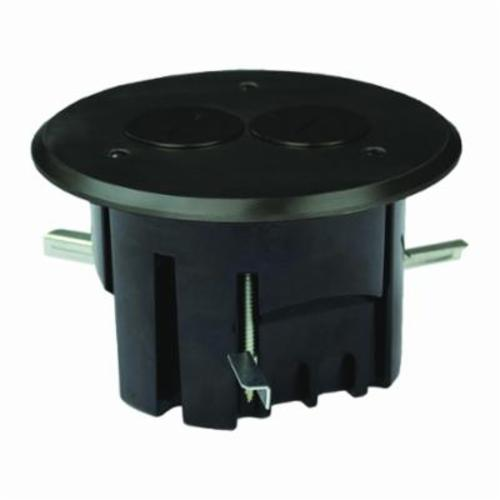 Allied Moulded FB-3DB Duplex Floor Box With Device Cover, Polycarbonate, 24.5 cu-in, 2 Outlets, 2 Knockouts