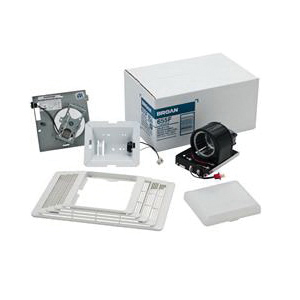 Broan 655F Heater/Fan Assembly and Grille Finish Pack, 70 cfm, 100 W Lamp, 1300 W Heater, 4 in Dia Duct