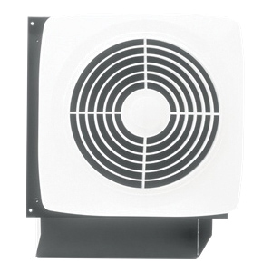 Broan 509 Through Wall Utility Ventilation Fan, 180 cfm, 120 VAC, 1.5 A, 8-3/8 in Dia Duct