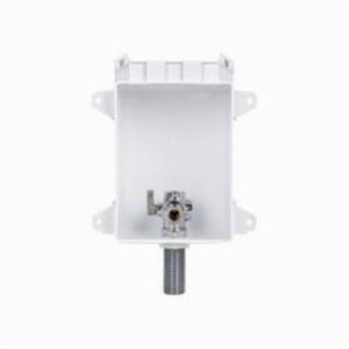 Tomahawk OxBox 696 Toilet/Dishwasher Outlet Box With Water Hammer Arrester, 1/2 in PEX F1807 Crimp, ABS, Domestic