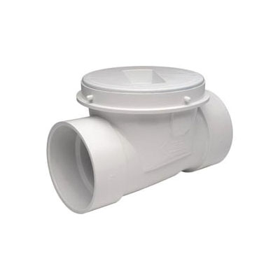 Tomahawk ProCheck 869 Backwater Valve, 3 in, Hub x Solvent Weld, PVC, Domestic