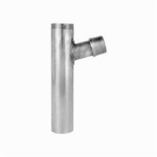 Tomahawk MajorTee 213 Trap Primer Tailpiece, 1-1/4 in Pipe, 6 in L, 20 ga, Fine Thread, Brass, Domestic