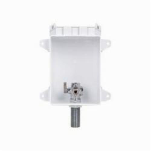 Tomahawk OxBox 696 Ice Maker Outlet Box With MiniRester Water Hammer Arresters, 1/2 in PEX F1960 Grip, ABS