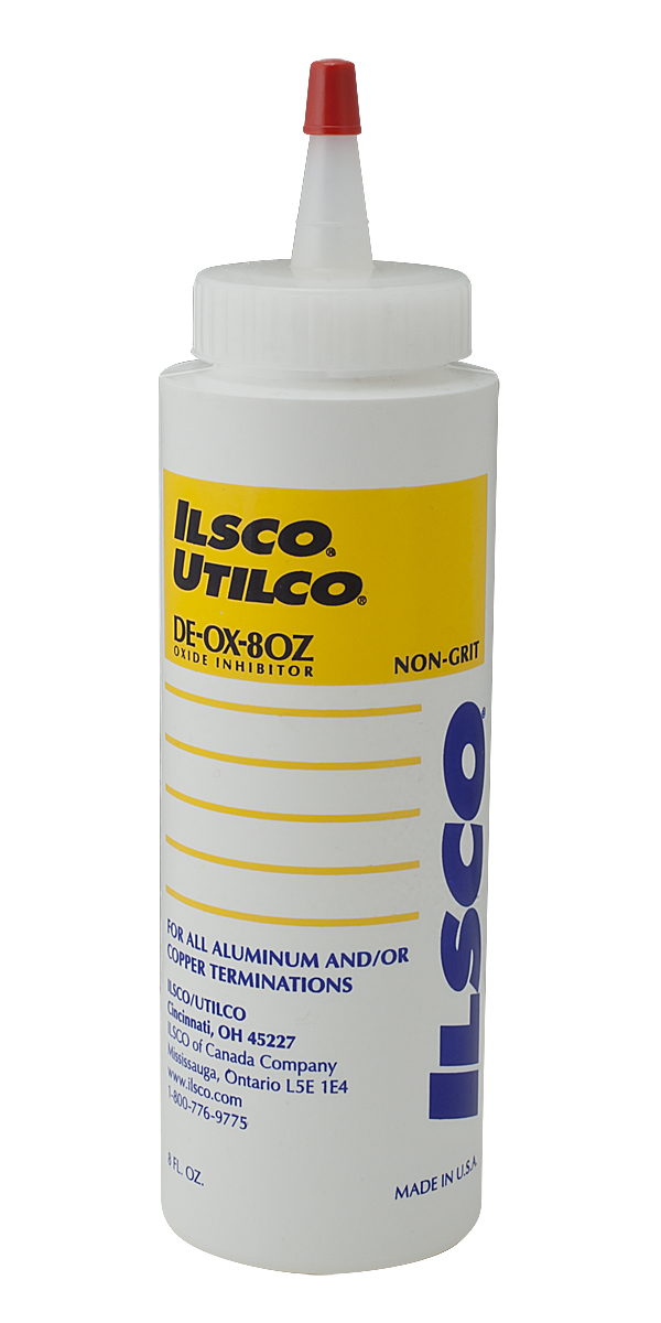 ILSCO DE-OX DE-OX-8OZ Oxide Inhibitor, 8 oz Bottle, Paste/Solid, Green, 1.08 Specific Gravity