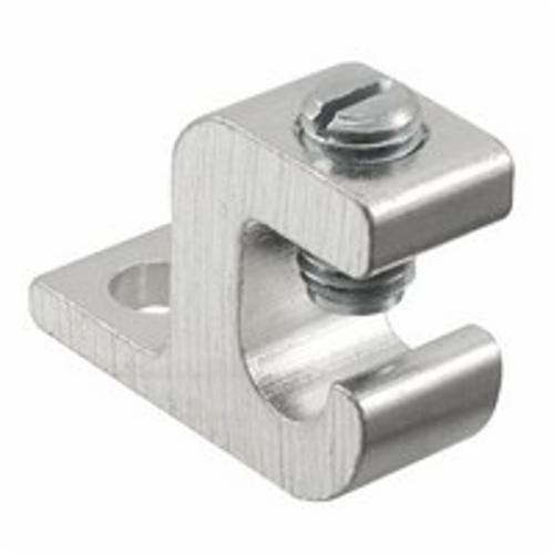 ILSCO GBL-4 Dual Rated Lay-In Ground Lug, Aluminum/Copper Conductor, 14 to 4 AWG Conductor, 1/4 in Stud, Aluminum Alloy