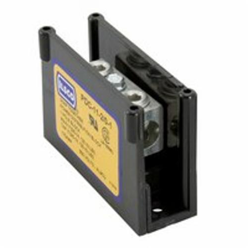 ILSCO ClearChoice PDC-11-2/0-1 Type PDC Power Distribution Block, 600 VAC, 175 A, 1 Pole, 14 to 2/0 AWG Wire