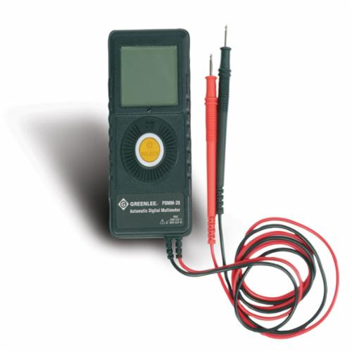 Greenlee PDMM-20 Non-Contact Pocket Digital Multimeter, 450 VAC/VDC, 6 MOhm, 450 VAC/VDC, 10 A, 6 MOhm, LCD Display