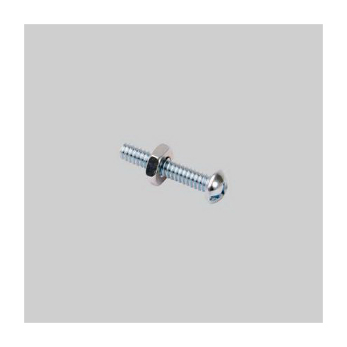 Diversitech Devco 6403 Stove Bolt With Nut, Imperial, #10-24, Steel, Zinc Plated
