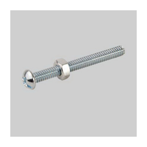 Diversitech Devco 6416 Stove Bolt With Nut, Imperial, 1/4-20, Steel, Zinc Plated
