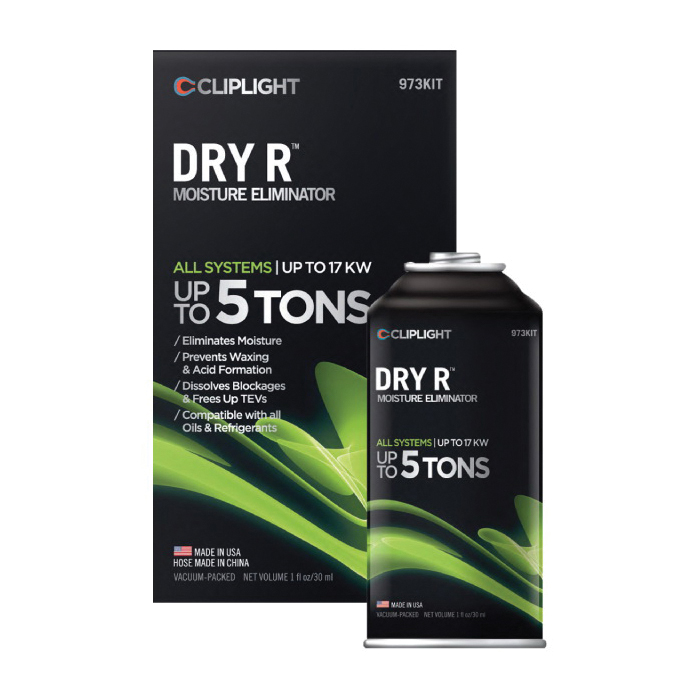 CLIPLIGHT DRY R 973KIT Moisture Eliminator, Up to 5 ton, Clear Liquid, Clear