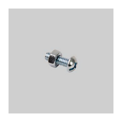 Diversitech Devco 6412 Stove Bolt With Nut, Imperial, 1/4-20, Steel, Zinc Plated