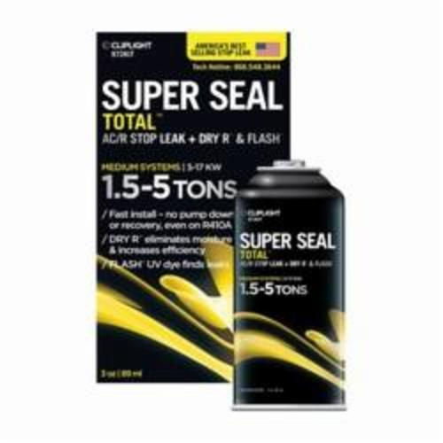 CLIPLIGHT Super Seal Total 972KIT Medium System Leak Sealant, 1.5 To 5 ton Can Container, Liquid, Clear Pale Yellow