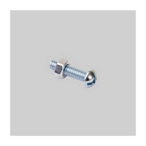 Diversitech Devco 6413 Stove Bolt With Nut, Imperial, 1/4-20, Steel, Zinc Plated