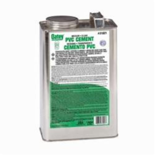 Oatey 31021 Medium PVC Cement, 1 gal, Translucent Liquid, Clear, 0.93 Specific Gravity