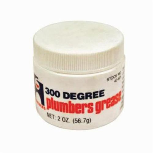 Hercules 40601 Plumber's Grease, Can 2 oz Container, Liquid, Amber, -20 to 300 deg F
