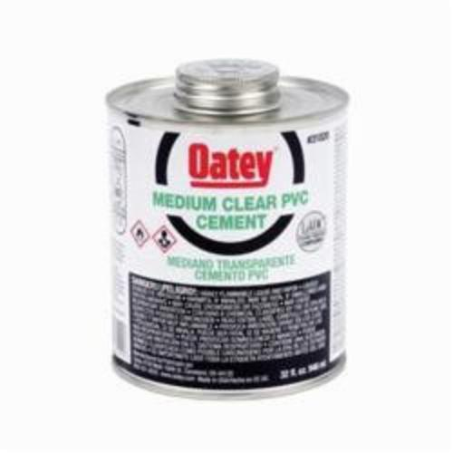 Oatey 31020 Medium PVC Cement, 32 oz, Translucent Liquid, Clear, 0.93 Specific Gravity