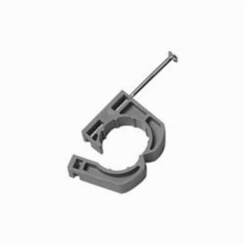 Oatey 33907 Full Pipe Clamp With Barbed Nail, 1 in, Polypropylene
