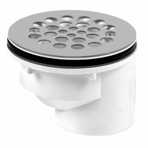 Oatey 103 Drain With Strainer, 2 in, Solvent Weld, PVC Drain, White