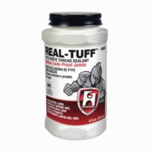 Hercules Real Tuff 15620 Heavy Duty Multi-Purpose Thread Sealant, Can 0.5 pt Container, Solid, White